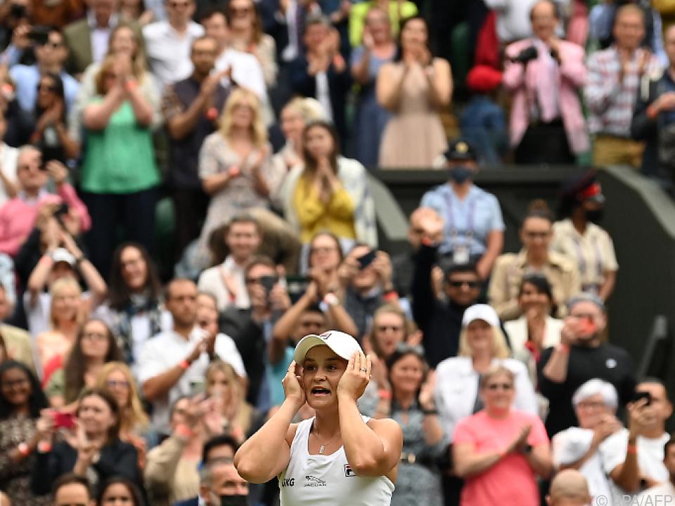 Barty nach ihrem ersten Wimbledonsieg
