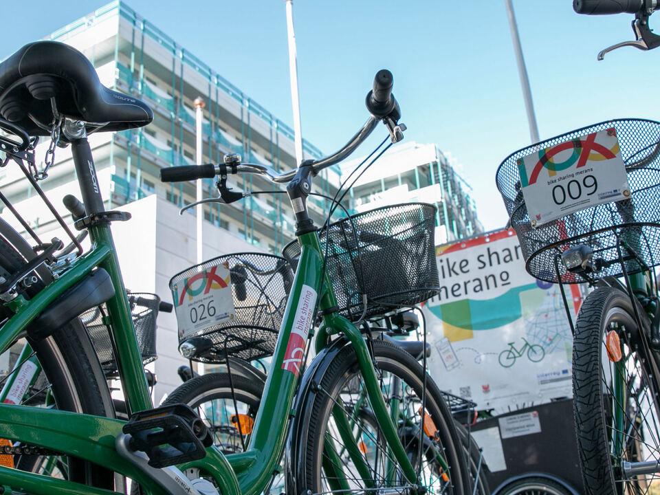 Bike Sharing beim Krankenhaus