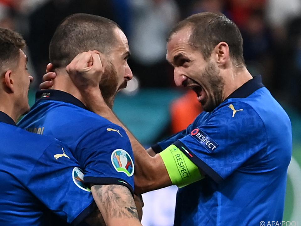 Bonucci und Chiellini dürfen über den EM-Titel jubeln