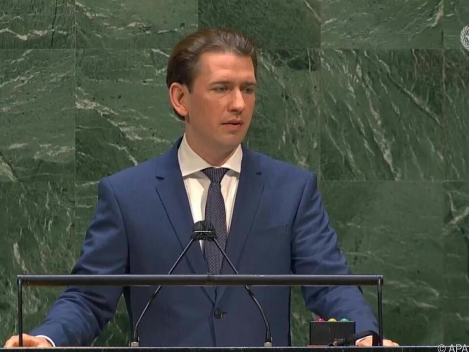 Bundeskanzler Kurz spricht zum Thema Corona vor der UNO in New York