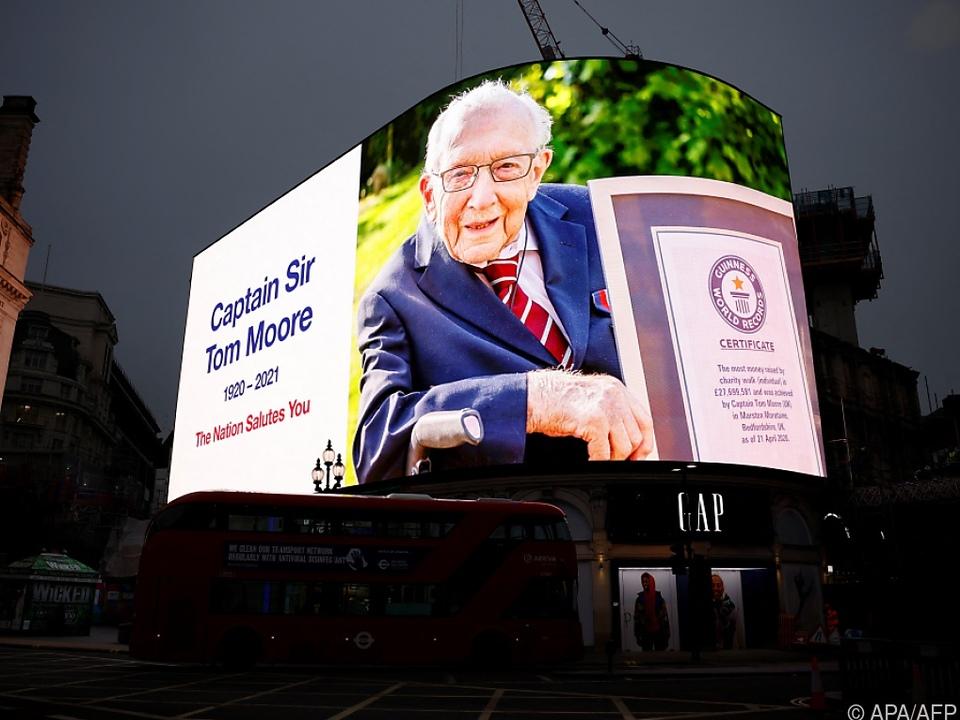 Captain Sir Tom Moore starb am 2. Februar