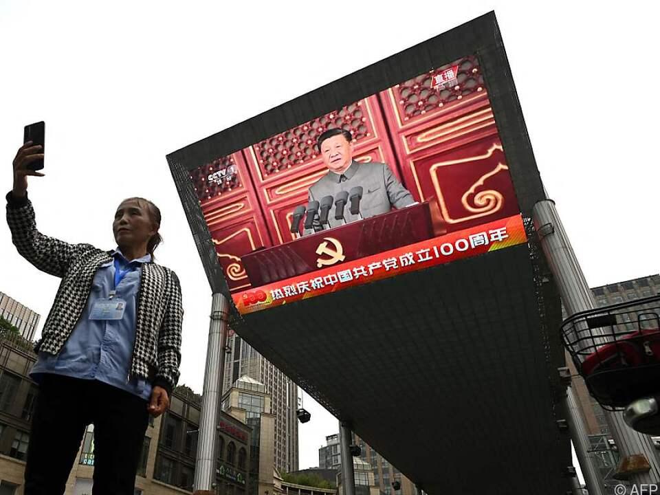 Chinas Staats- und Parteichef Xi Jinping zeigt sich kämpferisch