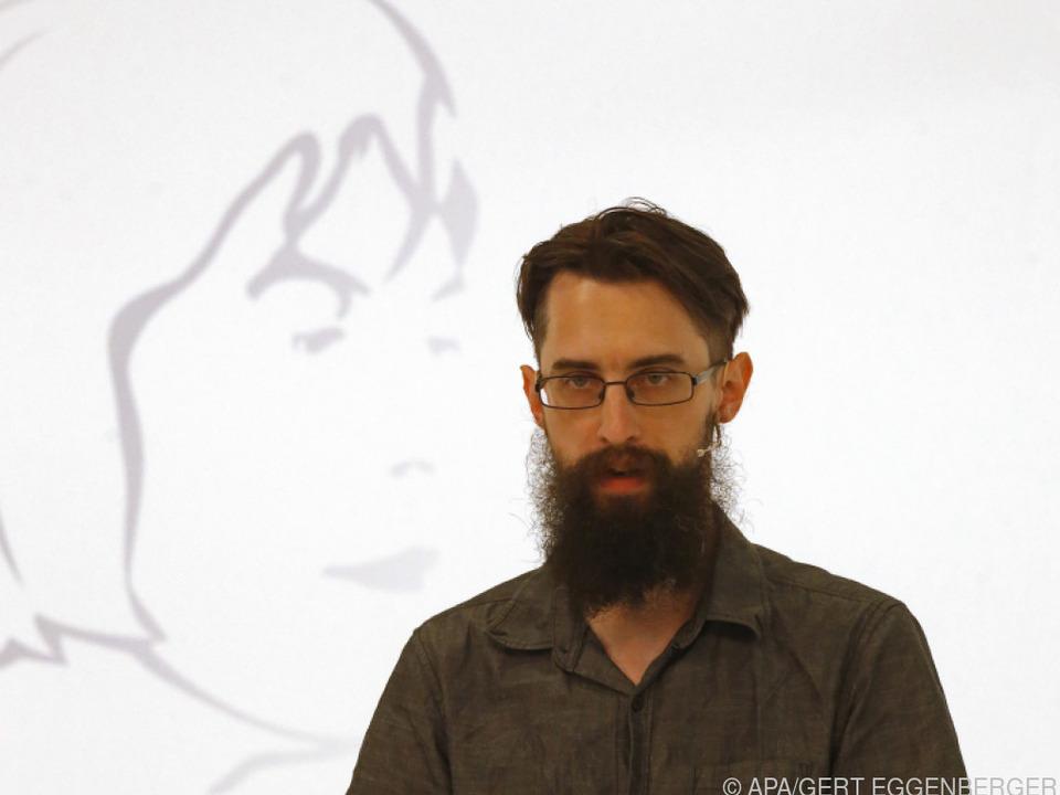 Clemens J. Setz (hier 2019) kann sich über den Büchner-Preis freuen