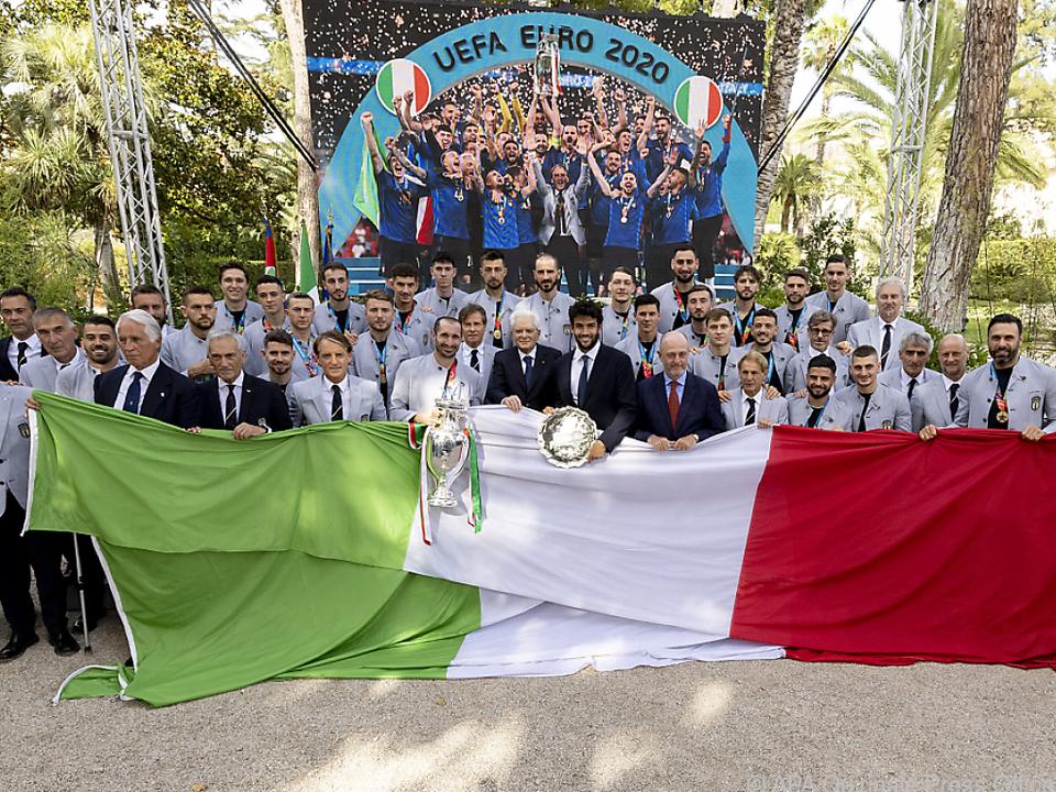 Der Empfang der Squadra Azzurra beim Staatspräsidenten