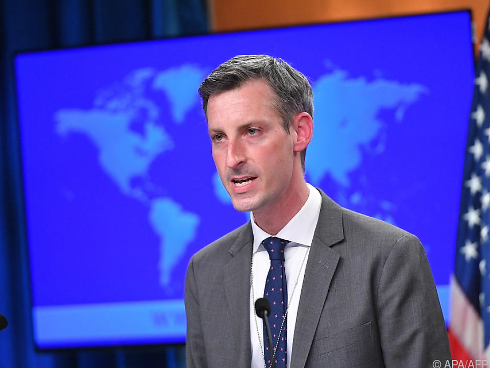 Der Sprecher des US-Außenministeriums, Ned Price