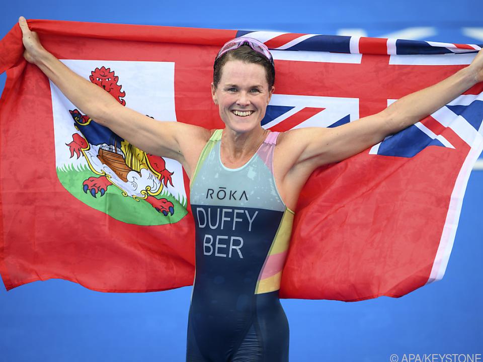 Die neue Triatlon-Olympiasiegerin Flory Duffy