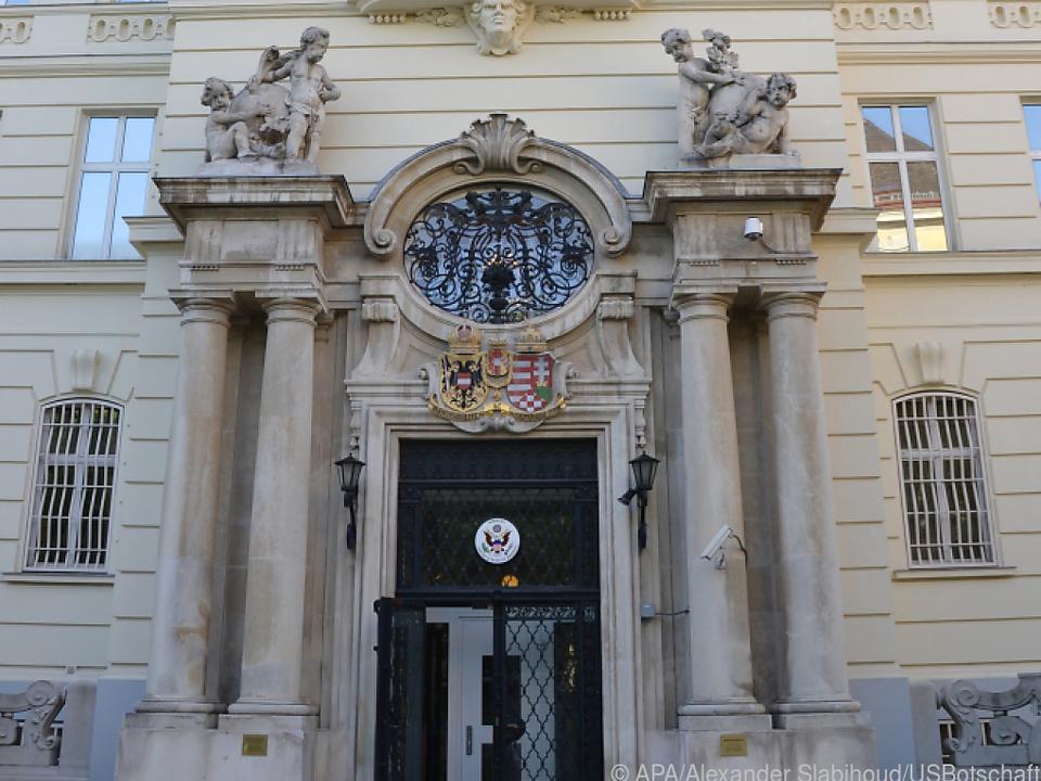 Die US-Botschaft in der Boltzmanngasse in Wien-Alsergrund