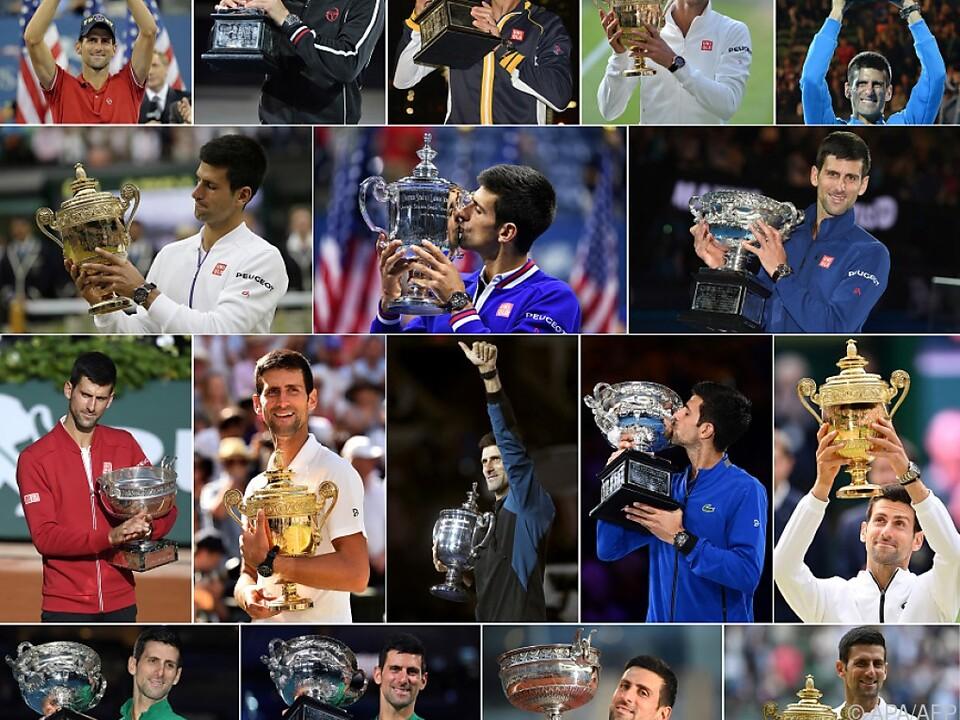 Djokovic und seine 20 Major-Titel