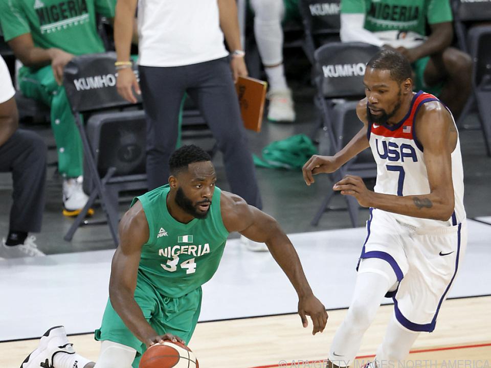 Durant hatte mit den USA gegen Nigeria nichts auszurichten