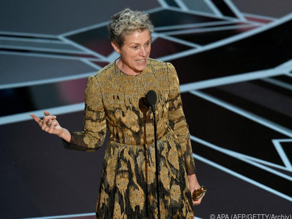 Ende April hatte McDormand den Oscar für \