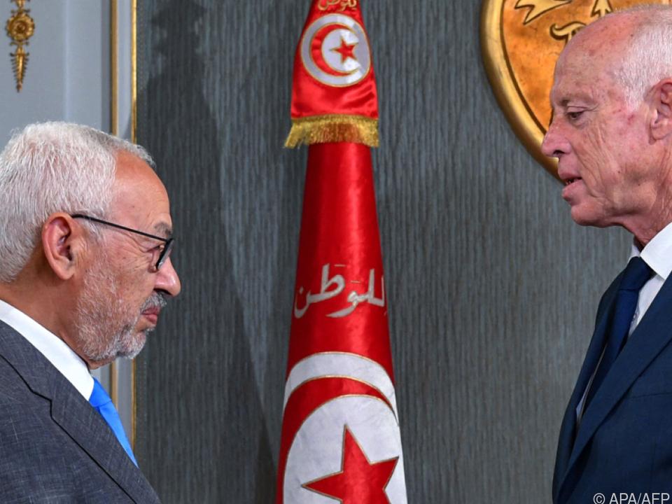 Ennahda-Chef Ghannouchi und Präsident Saied