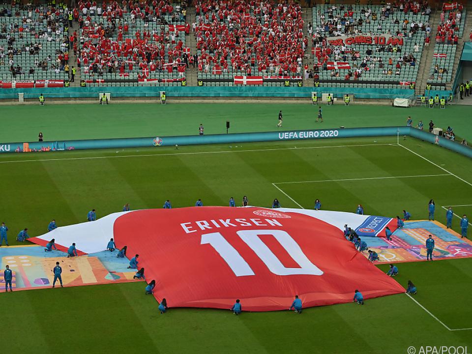 Eriksen war bei Dänen-Sieg in Baku allgegenwärtig