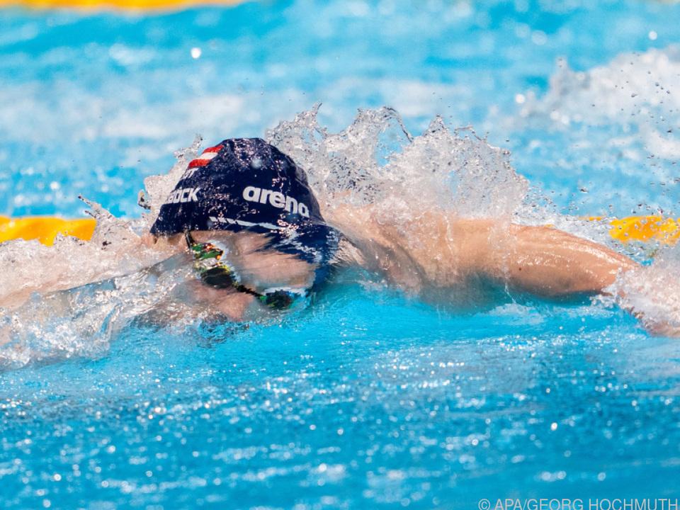 Felix Auböck pflügte mit Erfolg durchs olympische Wasser