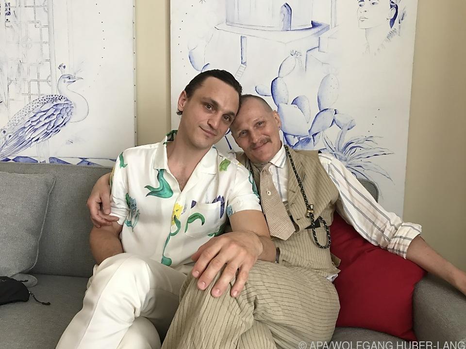 Franz Rogowski und Georg Friedrich beim Interview in Cannes