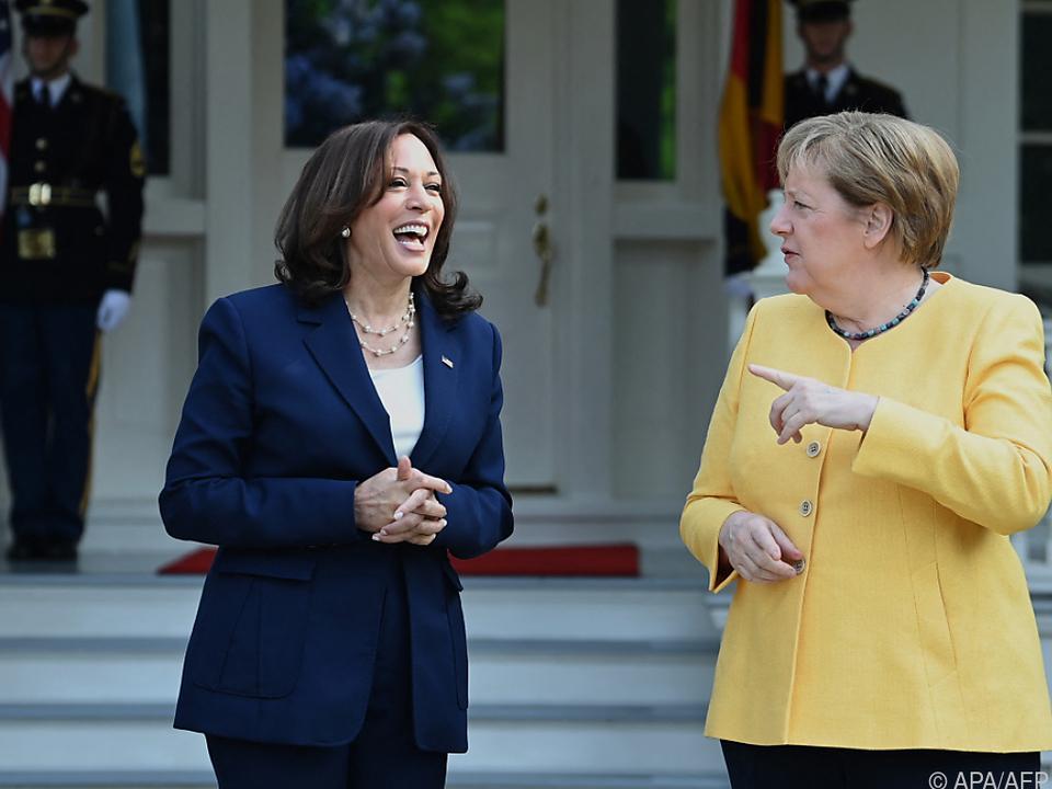 Harris empfing Merkel in Washington