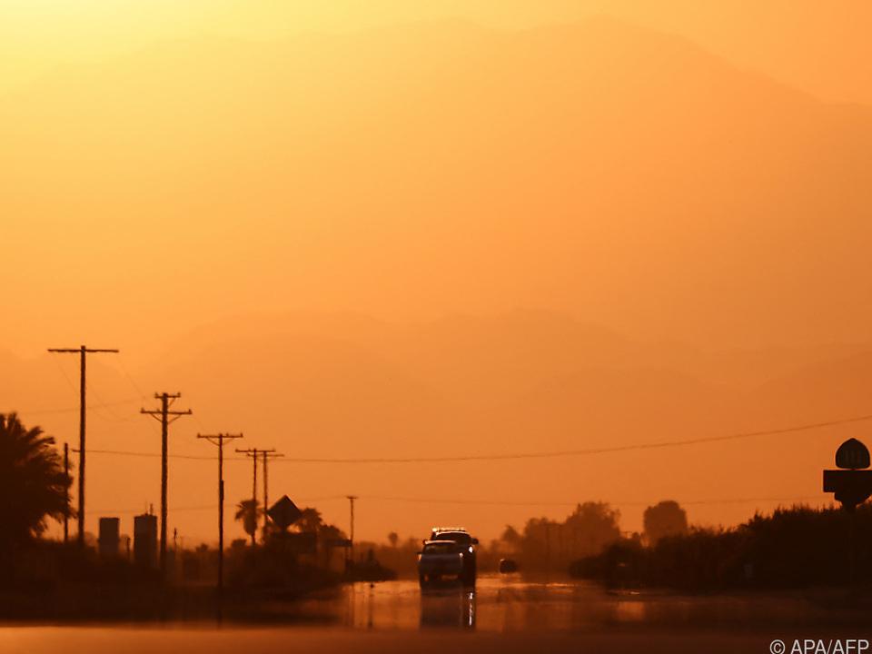 In Kalifornien kletterte das Thermometer auf über 50 Grad