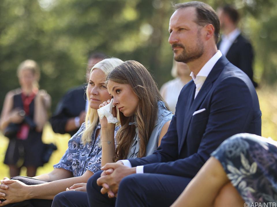 Kronprinz Haakon bei der Gedenkveranstaltung