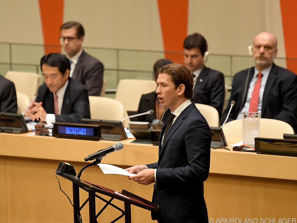 Kurz im September 2018 bei seinem bisher letzten Besuch bei der UNO