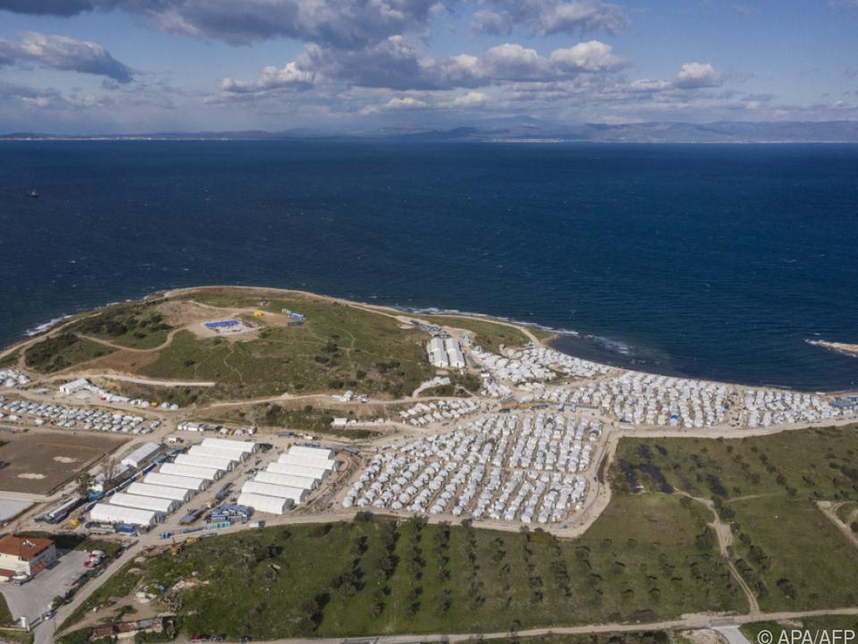Lage im Lager Mavrovouni hat sich verbessert