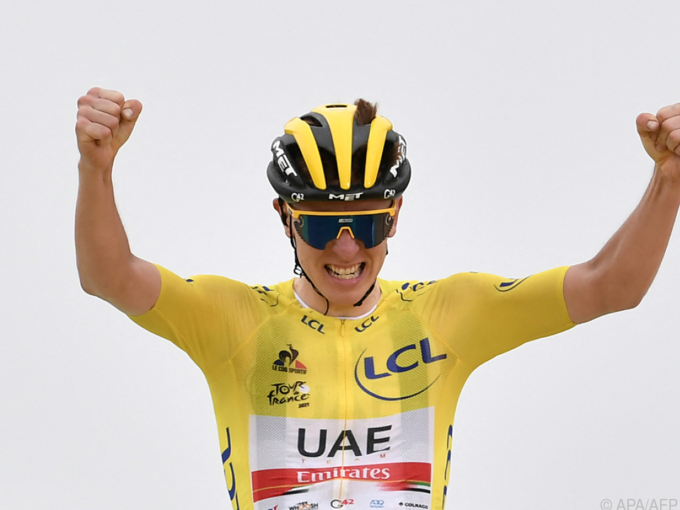 Leader Tadej Pogacar gewann die Tour-Königsetappe