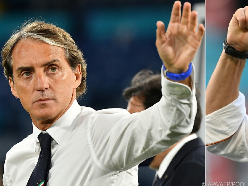 Mancini will im EM-Trainerduell gegen Luis Enrique siegen