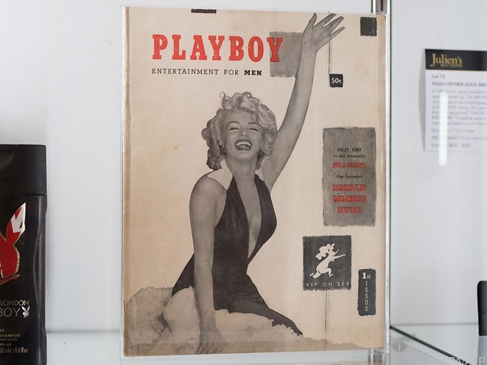 Marilyn Monroe am Cover des Playboy