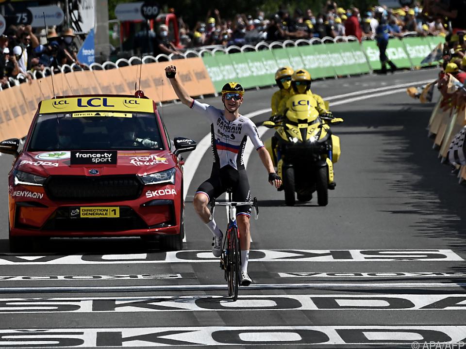 Mohoric bejubelt seinen zweiten Etappensieg