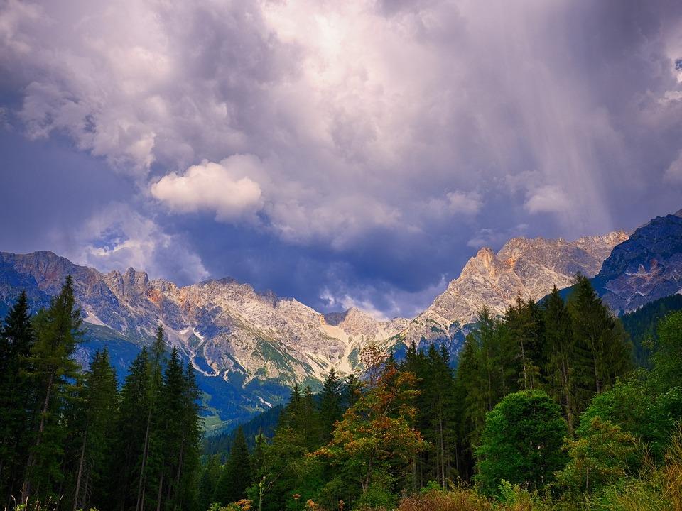 Berge Unwetter Gewitter
