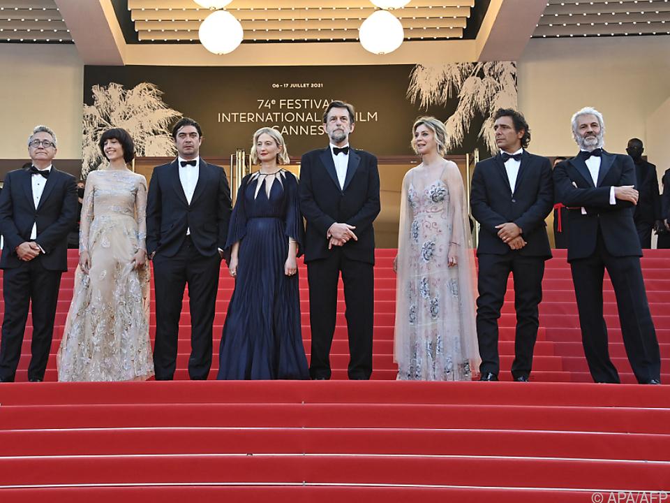 Nanni Moretti am Sonntagabend am Roten Teppich in Cannes