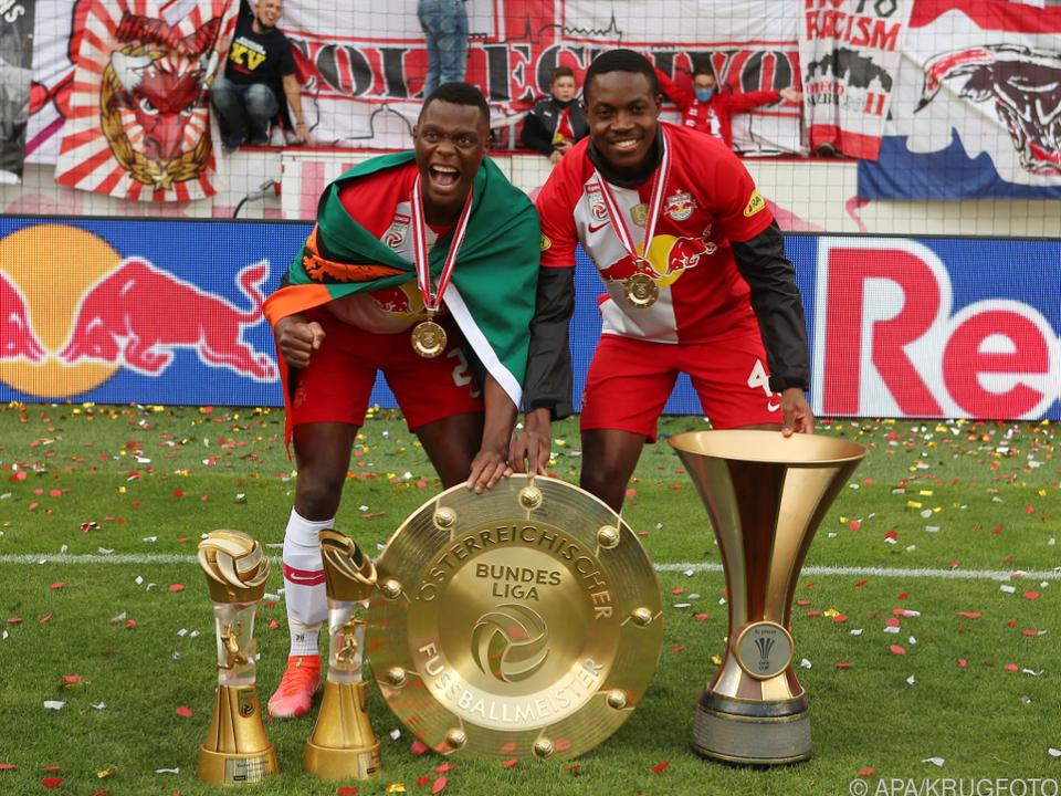 Patson Daka und Enock Mwepu (r.) spielen künftig in England