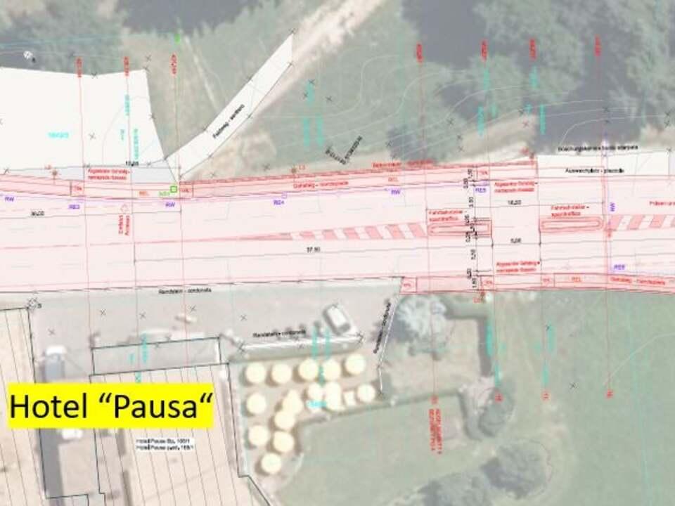 S.48.14 Pausa - planimetria Progetto