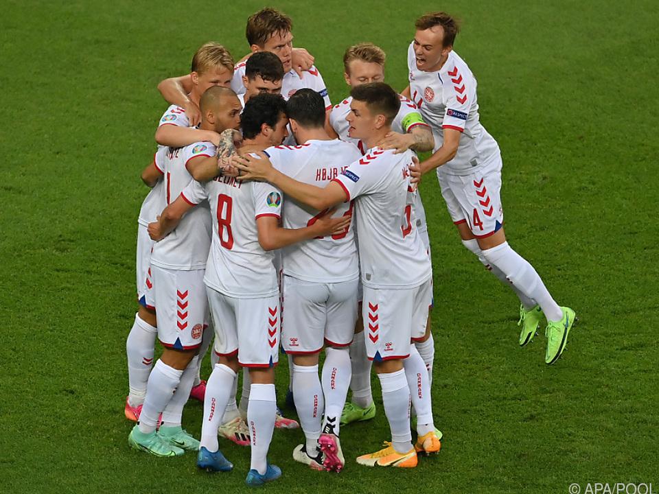 Schon früh im Spiel durfte Dänemark über die Führung jubeln.
