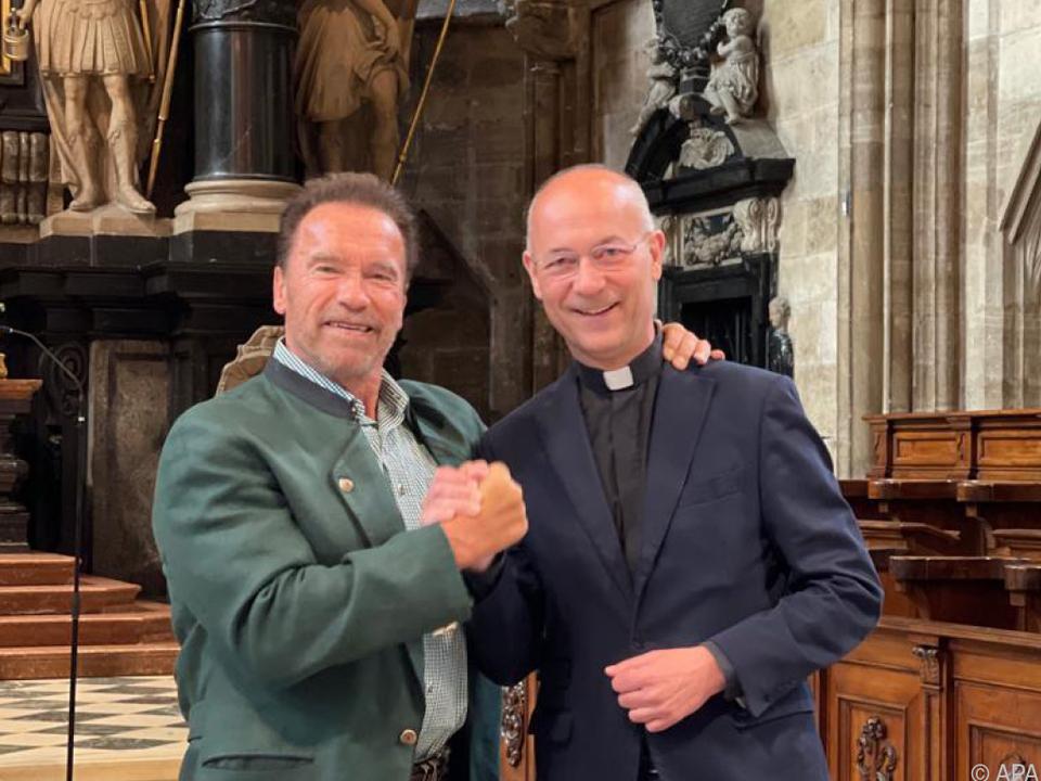 Schwarzenegger und Faber verstehen sich prächtig