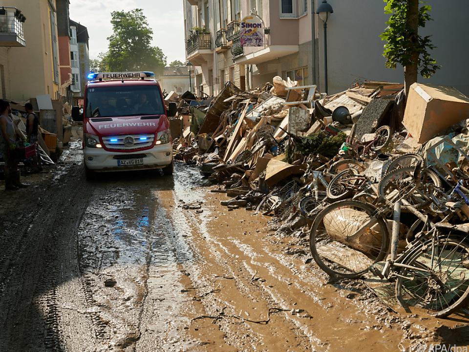 Schwere Überschwemmungen in Deutschland
