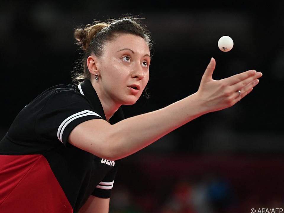 Sofia Polcanova zog mit ihrem Auftaktsieg ins Achtelfinale ein