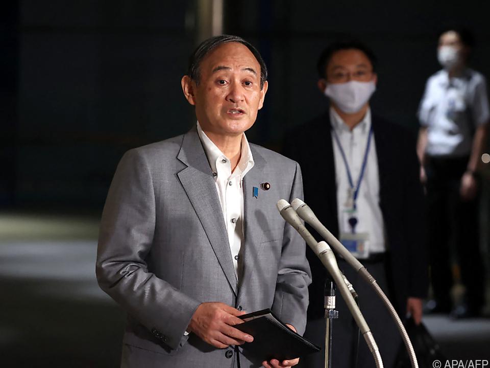 Sorge bei Ministerpräsident Yoshihide Suga