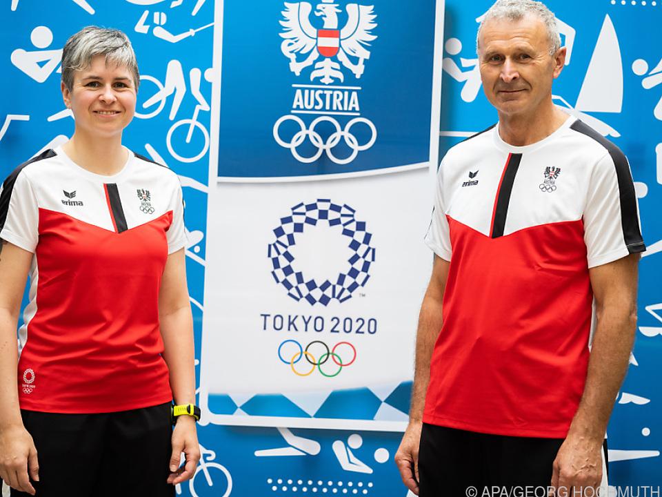 Sylvia Steiner wird von Vater und Trainer Franz nach Tokio begleitet