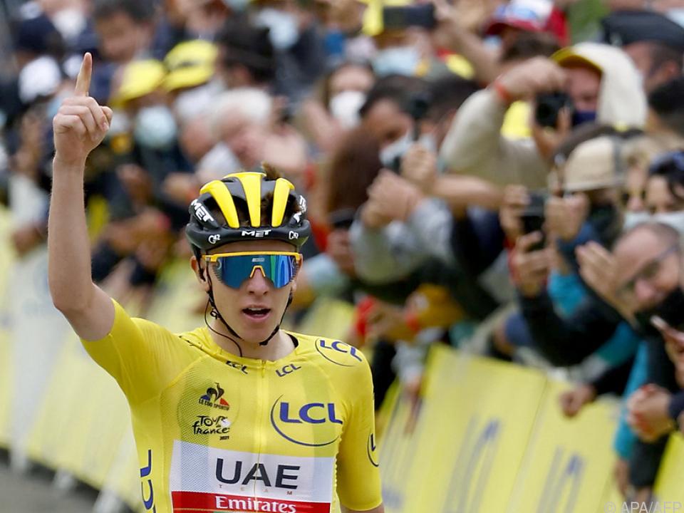 Tadej Pogacar triumphierte bei der Tour de France wie am Vortag