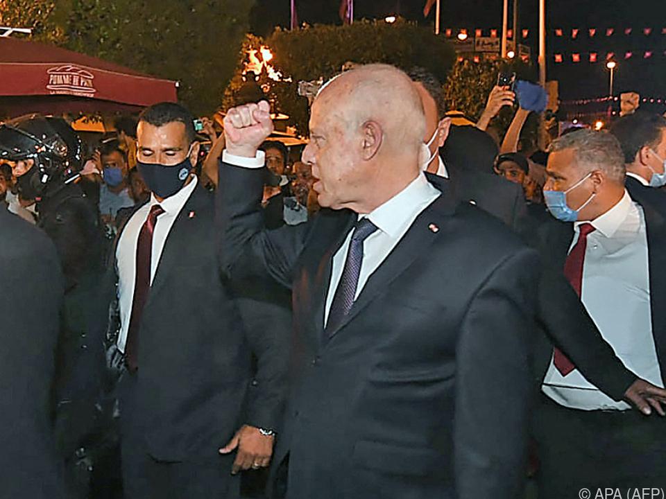 Tunesiens Präsident Kais Saied gibt sich entschlossen
