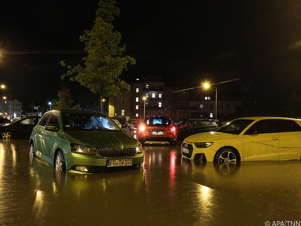 Überschwemmung dieser Tage in Deutschland