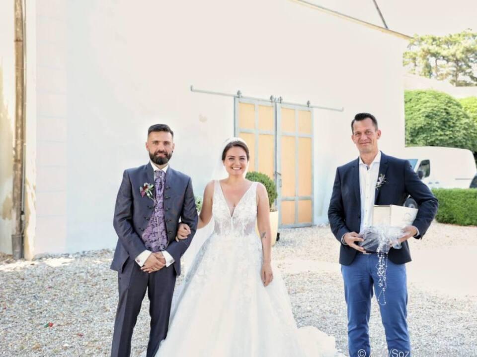 Wolfgang Mückstein mit dem Ehepaar Andreas und Monika