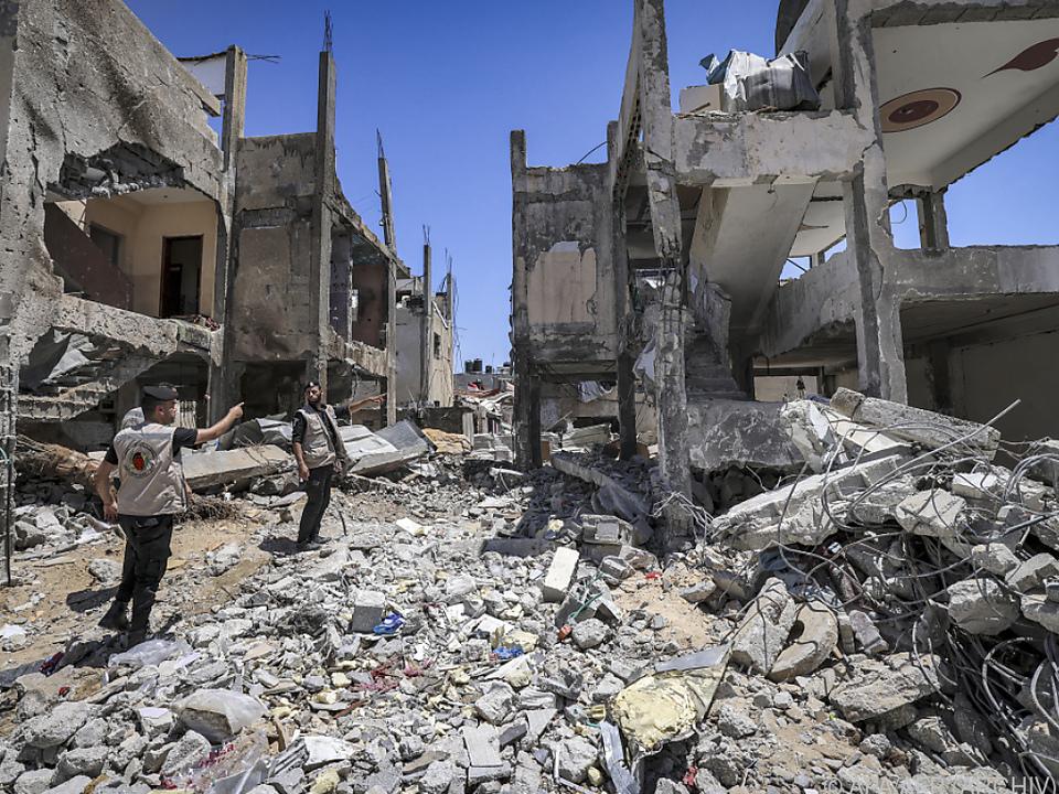 Zerstörungen nach israelischen Luftschlägen in Gaza im Mai 2021