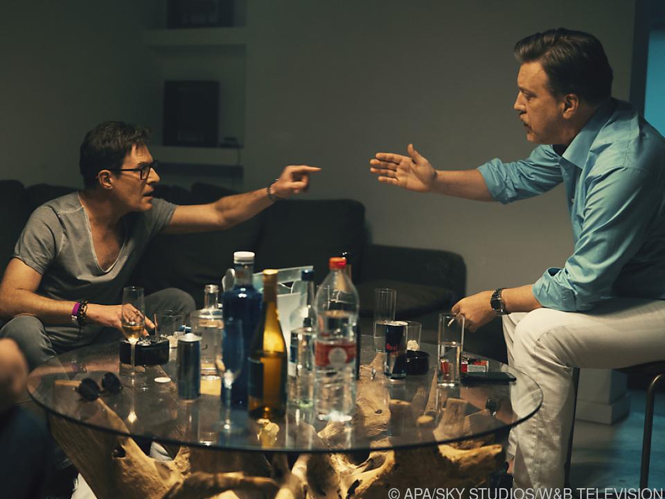 Andreas Lust (l.) als Strache und Nicolas Ofczarek als Julian H.