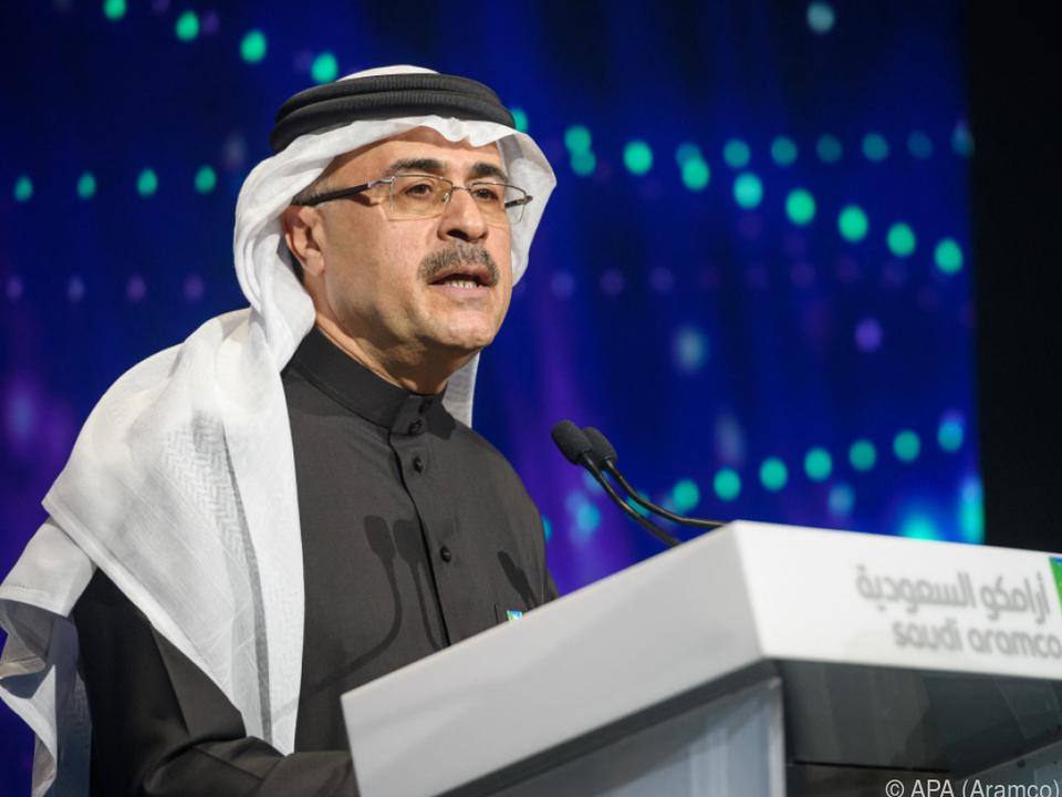 Aramco-CEO Amin Nasser freut sich über satte Gewinne