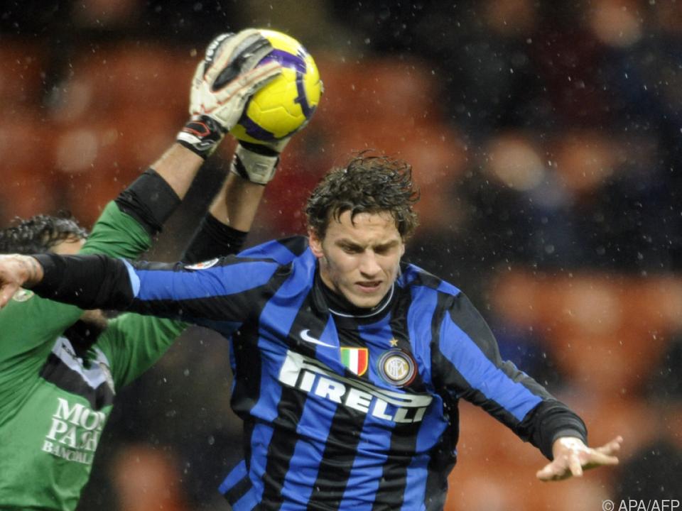 Arnautovic im Einsatz für Inter im Jänner 2010