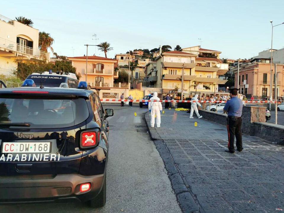 Una 26enne, Vanessa Zappalà, è stata uccisa con diversi colpi di arma da fuoco la notte scorsa mentre passeggiava in compagnia di amici sul lungomare di Acitrezza, frazione marinara di Aci Castello, nel Catanese, 23 Agosto 2021. athesiadruck2_20210823195841654_6ad8bd9b4859593dff1528e8d955fdbc
