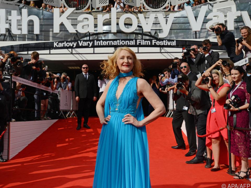 Auch Karlovy Vary hat seinen Red Carpet: Patricia Clarkson, 2019