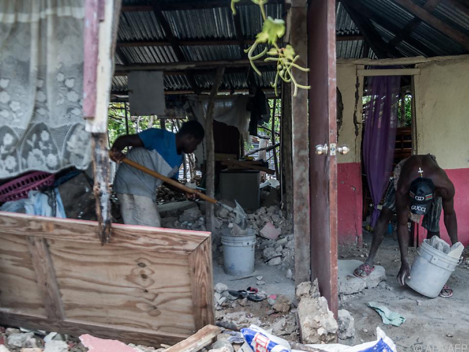 Aufräumarbeiten in Haiti