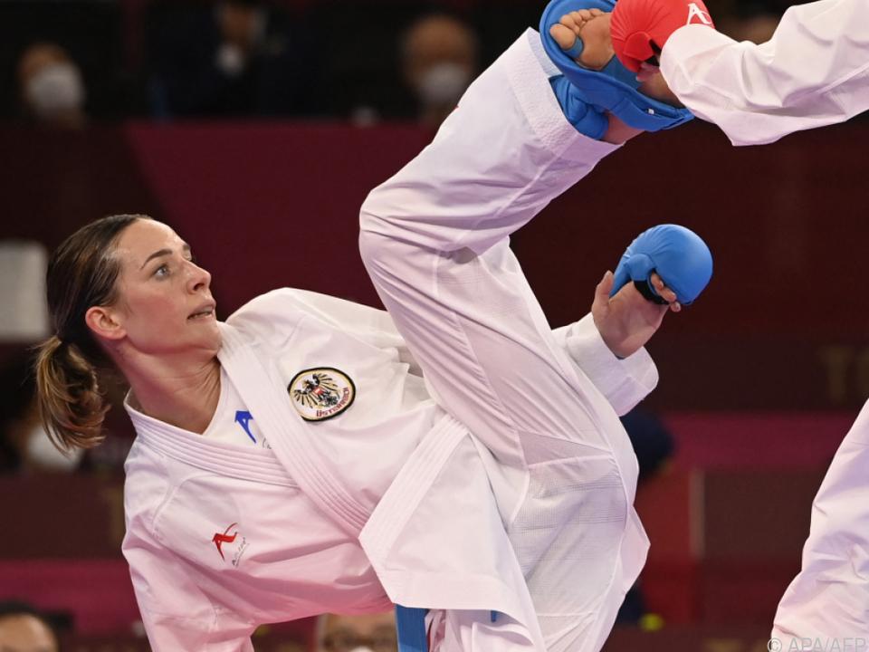 Bettina Plank gewann Bronze bei der Karate-Premiere