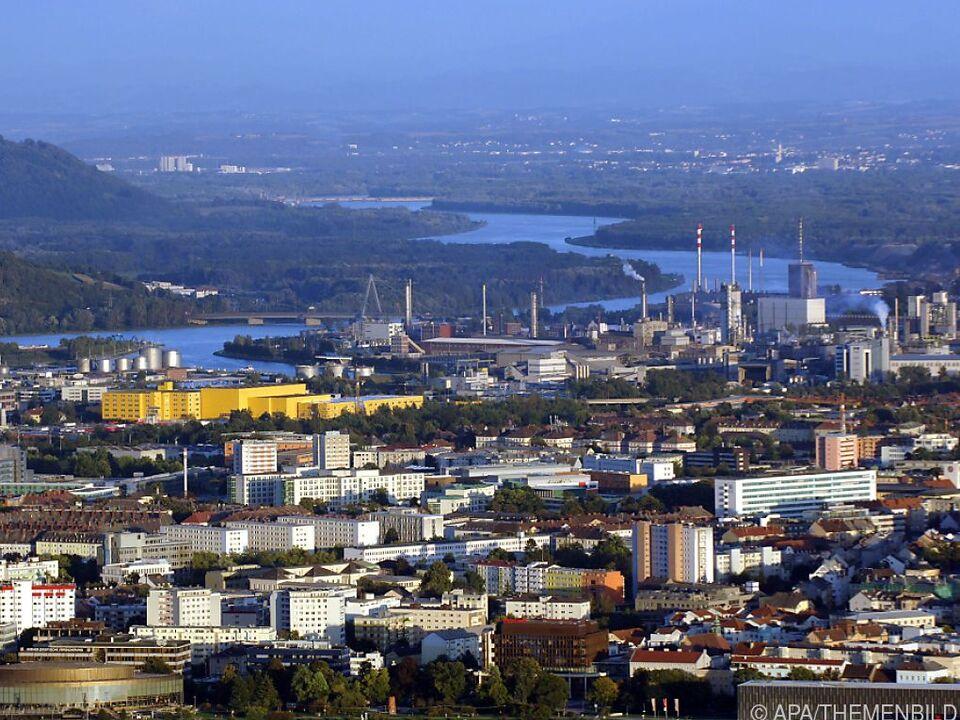 Blick über die Industriestadt Linz anno 2015